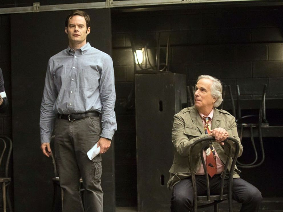 PHOTO: Rightor Doyle, Bill Hader and Henry Winkler in a scene from HBOs Barry.