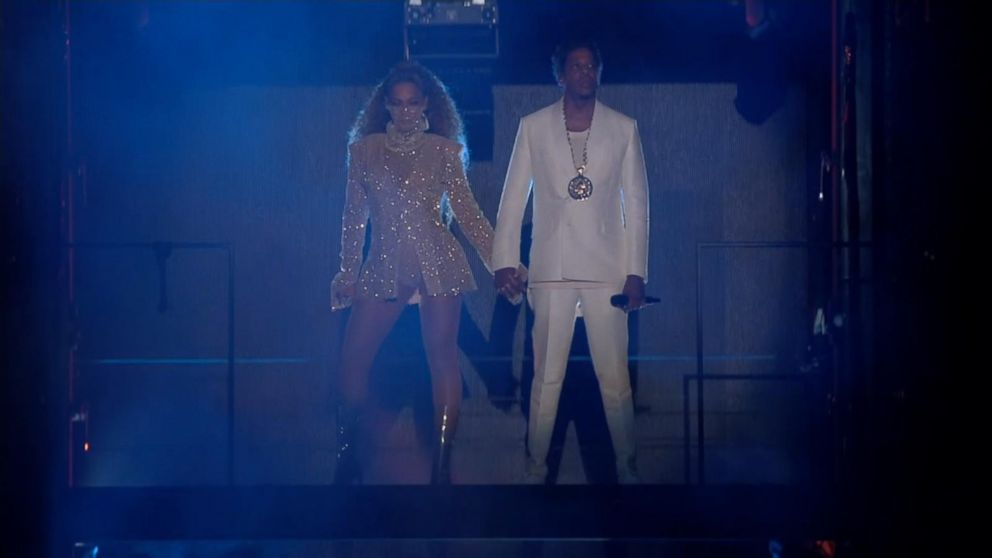 WATCH:  Beyonce and Jay-Z celebrate 10 years of marriage on stage by performing a duet