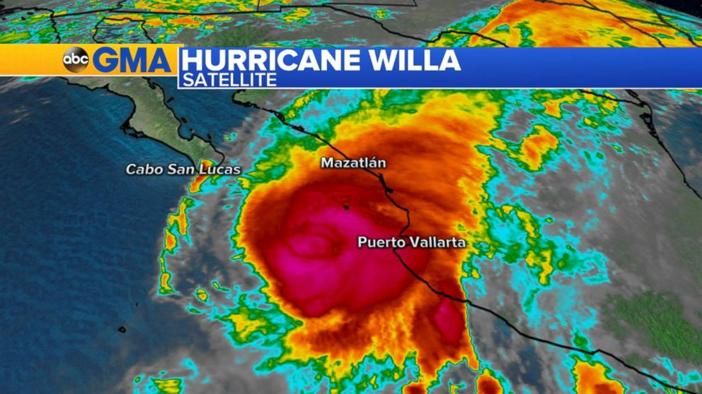 WATCH:  Hurricane Willa set to make landfall in Mexico as Cat 4
