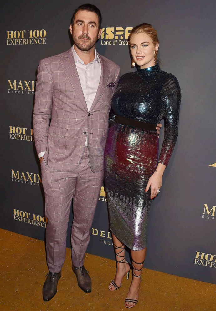PHOTO: Justin Verlander and Kate Upton attend Maxim Hot 100 Experience in Los Angeles, July 21, 2018.