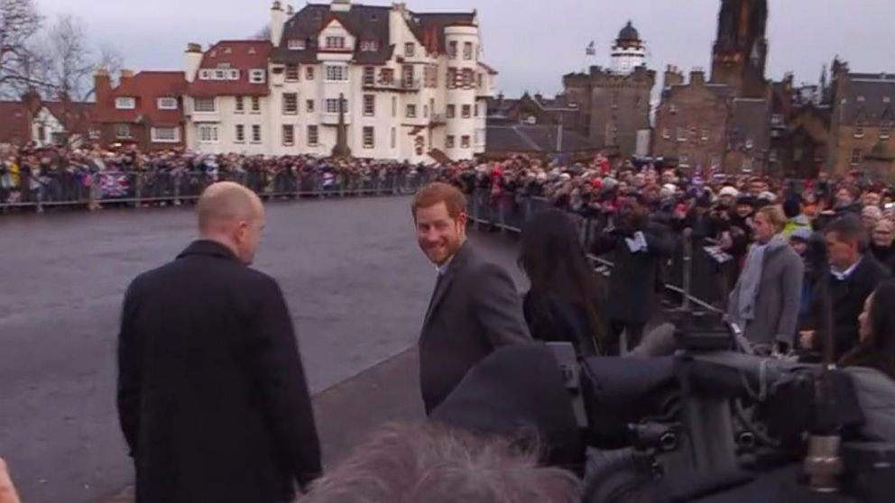 WATCH:  Prince Harry and Meghan Markle visit Edinburgh, Scotland