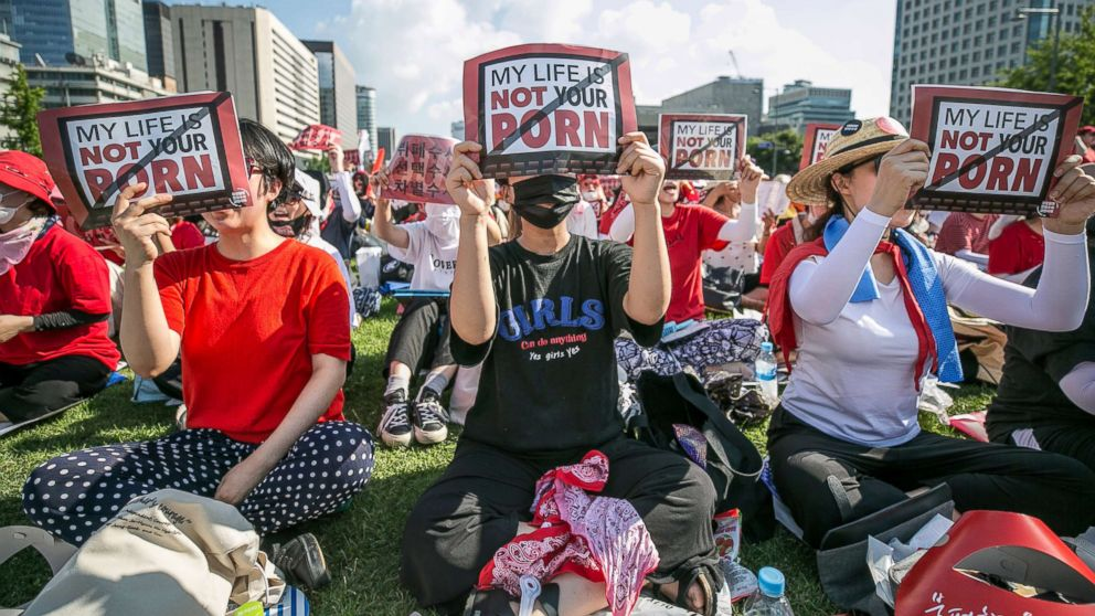 Thousands of women protest against spy cameras, gender-biased investigations
