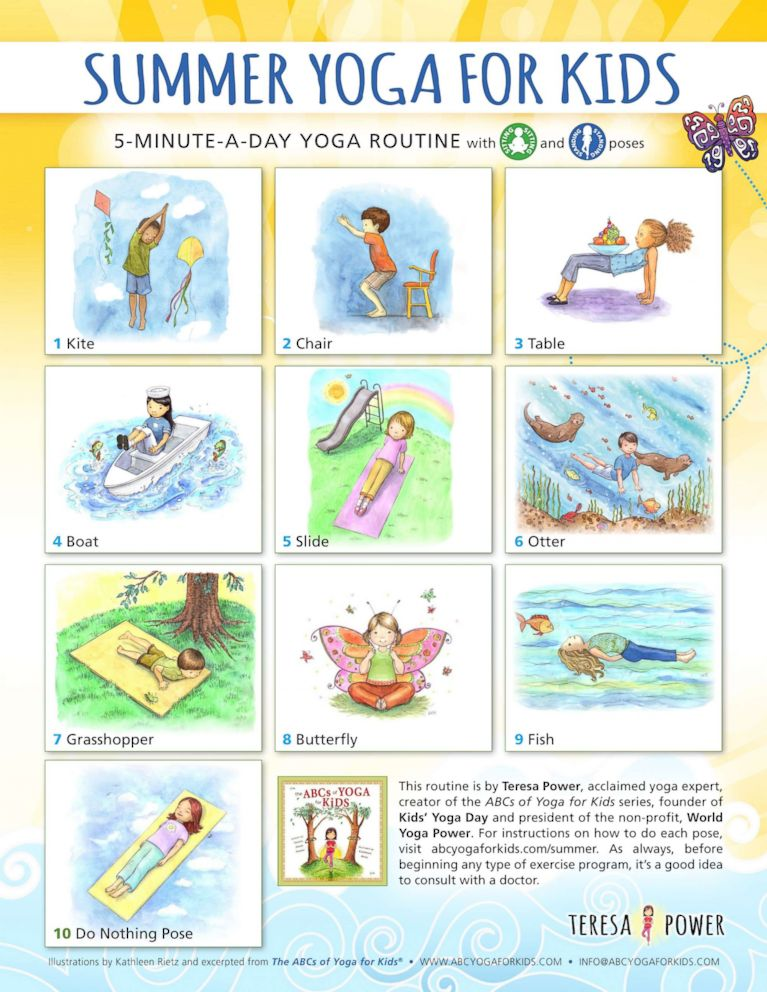 Yoga For Kids As Simple The Abcs Abc News