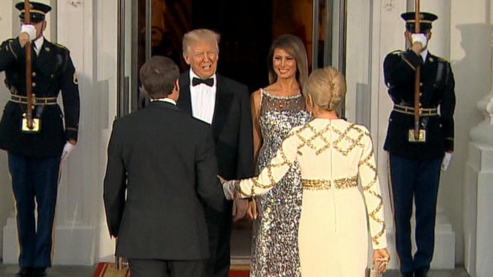 WATCH:  First Lady Melania Trump hosts first state dinner, along with President Trump