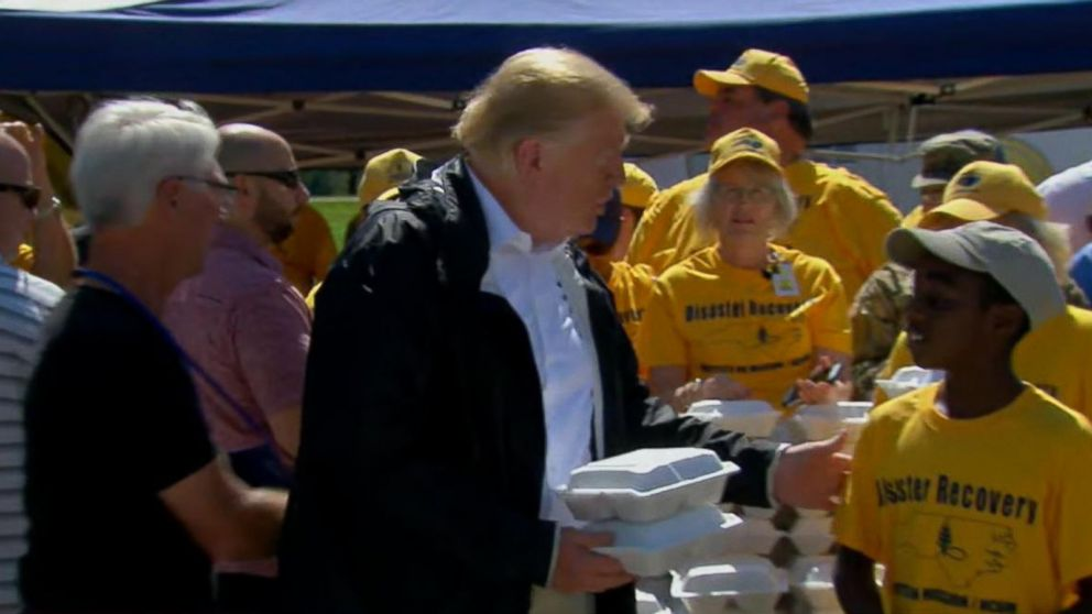 WATCH:  President Trump visits Carolinas in the wake of Hurricane Florence