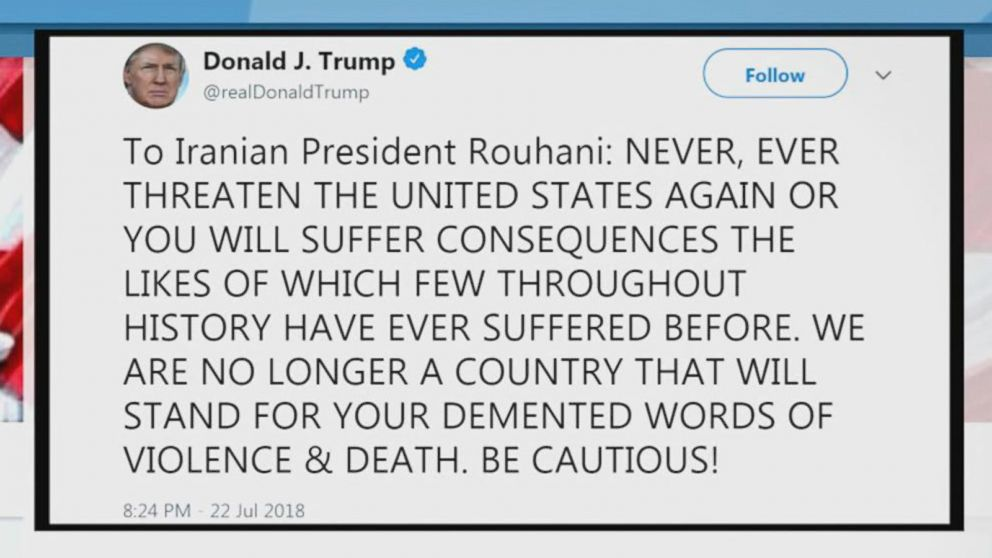 WATCH:  President Trump fires back at Iranian president