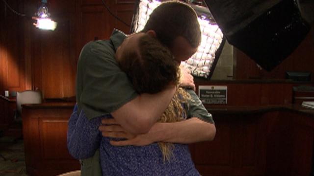 One Last Hug for Siblings in Jail for Bank-Robbing