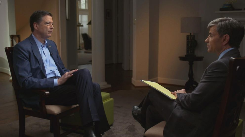 Comey Tells ABC News' George Stephanopoulos that if Mueller did decide to bring a case, he would agree to be a witness.