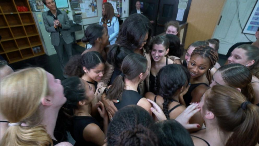 VIDEO: Michelle Obama surprises students in a dance class at her former high school: Part 5