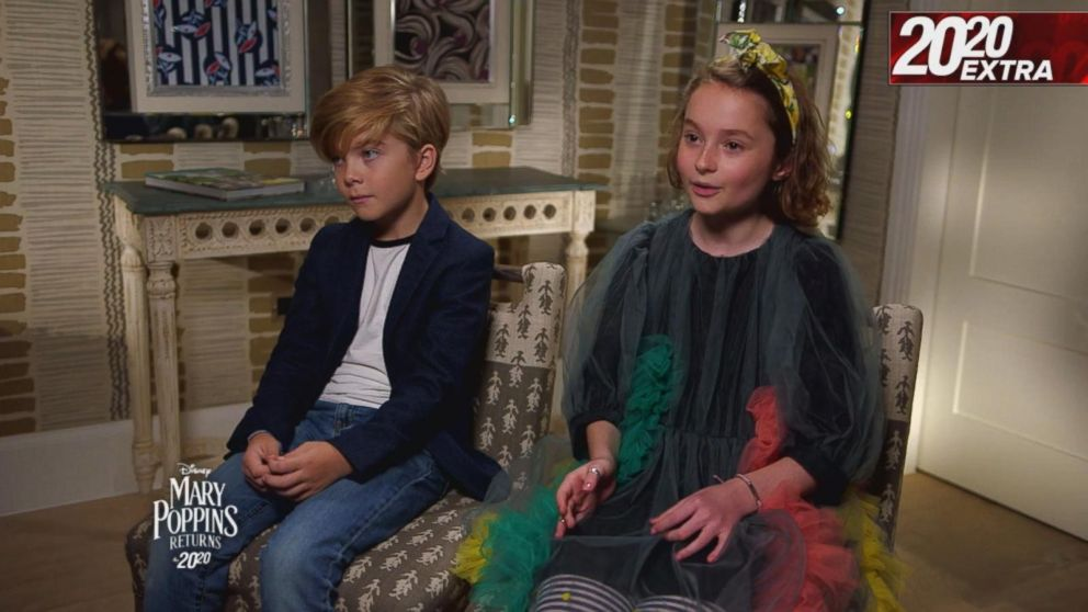 Kids Starring In Mary Poppins Returns Share On Set Moments With Cast Video Abc News