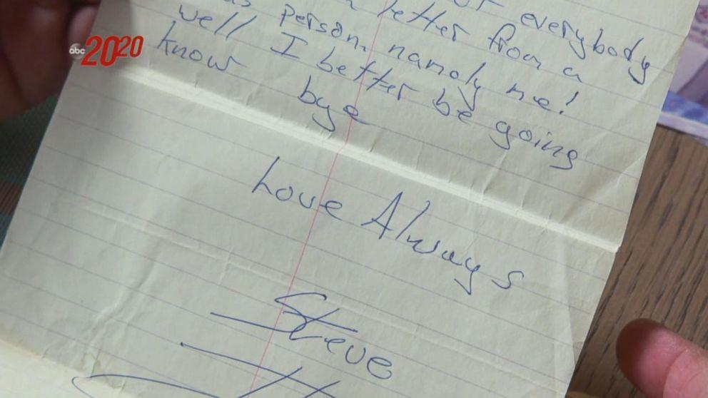 The letter Steven Stayner sent to his high school girlfriend