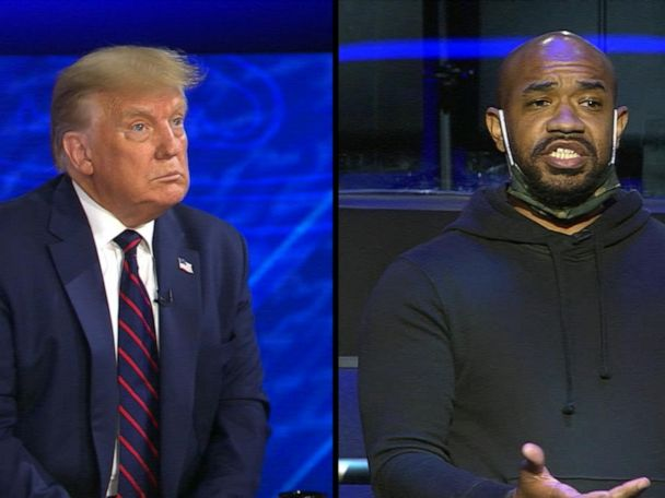 WATCH:  Trump on ABC News town hall: Trump responds to question on US's racial inequalities