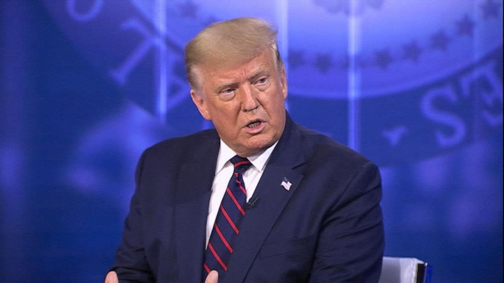 Trump on ABC News town hall: Trump on economic relief if there's second COVID-19 wave