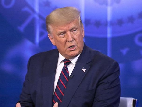 WATCH:  Trump on ABC News town hall: Trump on economic relief if there's second COVID-19 wave