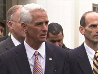 Video of Florida Governor Charlie Crist on the stimulus and jobs.