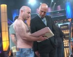 VIDEO: Howie Mandels creative consultant goes over script pages shirtless.