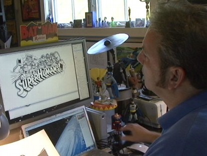 VIDEO: Arlen Schumer shows how he brings superheroes like Iron Man to life.