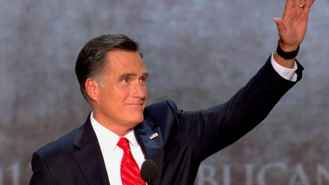 VIDEO: GOP presidential nominee brings crowds to their feet at the 2012 Republican National Convention.