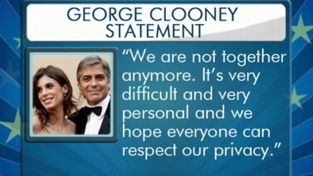 VIDEO: Clooney and Elisabetta Canalis call it quits after two years together.