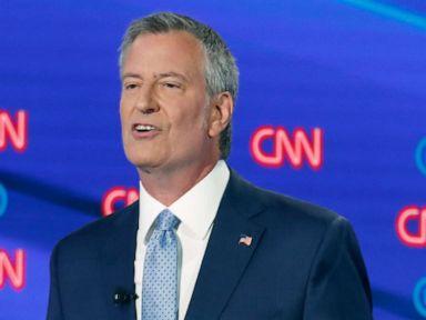 PHOTO: New York City Mayor Bill de Blasio participates in the second of two Democratic presidential primary debates, July 31, 2019, in Detroit.