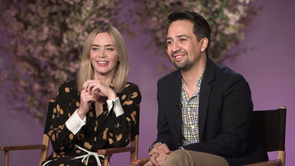 "Emily Blunt and Lin Manuel Miranda discuss playing Mary Poppins and Jack in ""Mary Poppins Returns."""