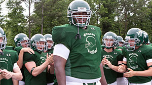 Photo: The Blind Side: Making This Seasons Surprise Box Office Smash Hit: Like the Real Michael Oher, Actor Quinton Aaron Was in Dire Straights Before Big Break