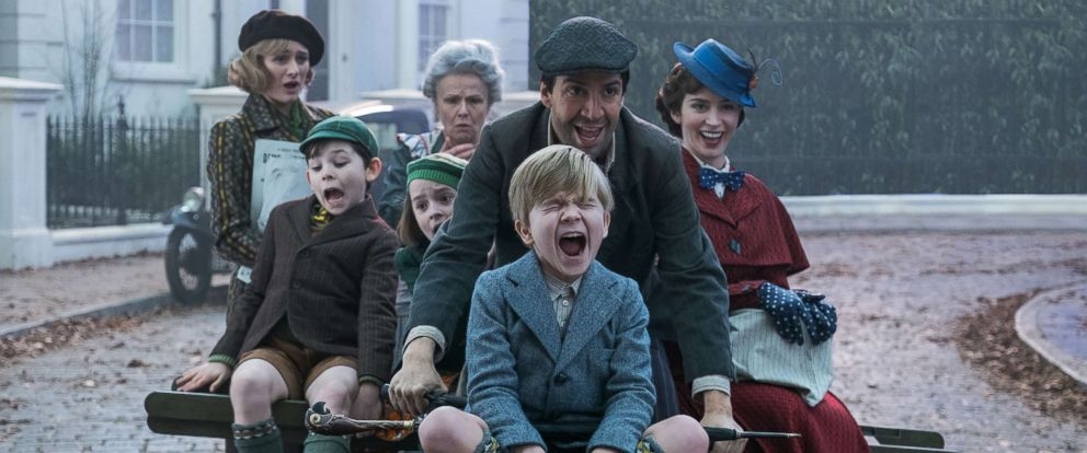 "PHOTO: Lin-Manuel Miranda and Emily Blunt star in the 2018 film, ""Mary Poppins Returns."""