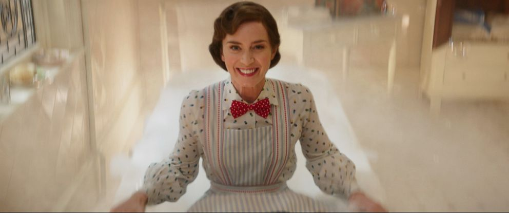 "PHOTO: Emily Blunt is Mary Poppins in the 2018 film, ""Mary Poppins Returns."""