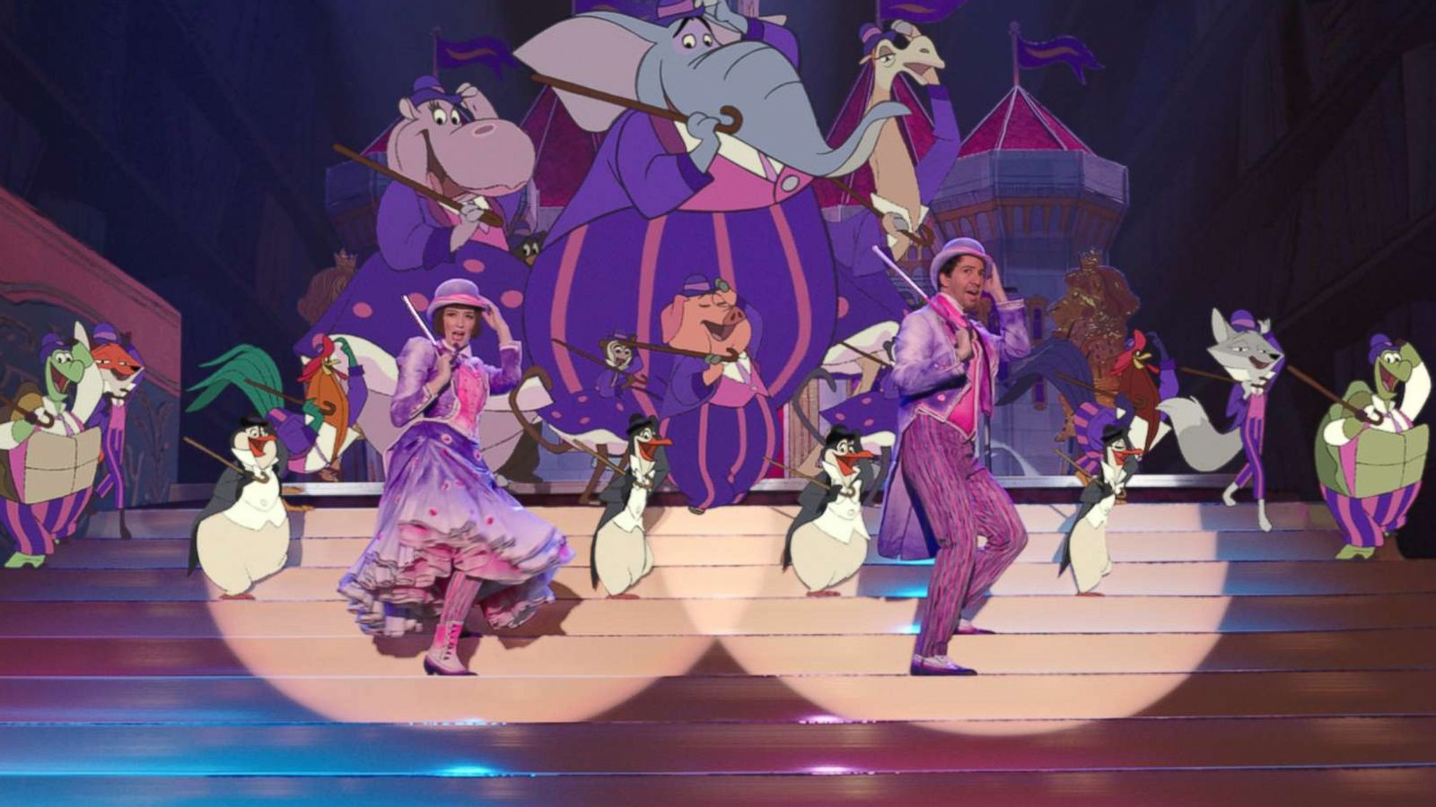 Mary Poppins Returns Pays Homage To First Film With Hand Drawn Animations Including Penguins Abc News