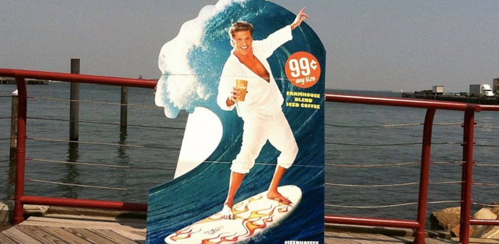 "PHOTO: David Hasselhoff is the face of Cumberland Farms iced coffee drink, cleverly called the ""Iced Hoffee""."