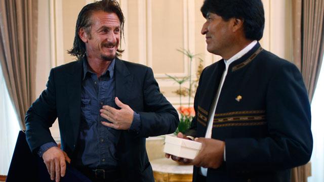 PHOTO:Sean Penn and Evo Morales