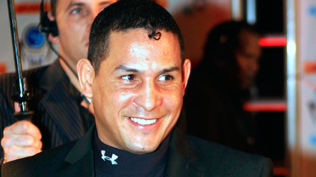 """PHOTO:In this Dec. 14, 2006, file photo, Hector """"Macho"""" Camacho arrives for an event in Miami Beach, Fla. Police in Puerto Rico say former boxing champion Camacho has been shot and critically wounded."""