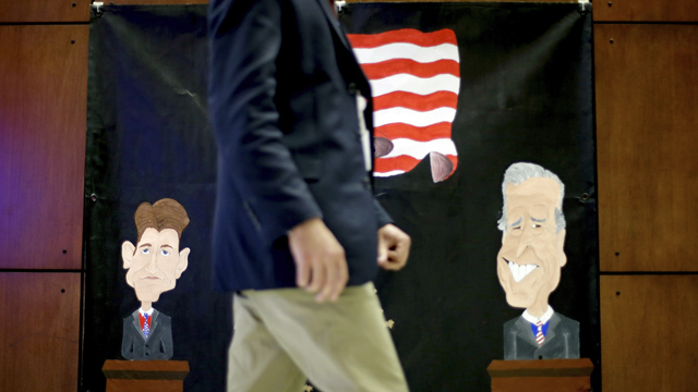 PHOTO: Democrat Richard Carmona answers questions from the media outside of the television studios after an Arizona U.S. Senate debate Wednesday, Oct. 10, 2012, in Phoenix. The candidates are vying for the seat left open by retiring Sen. Jon Kyl, R-Ariz.