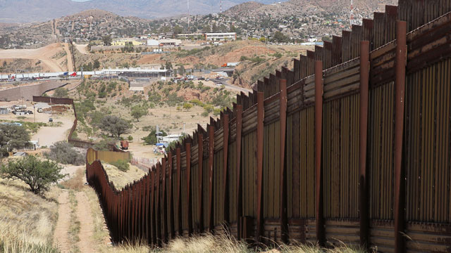 PHOTO:The wall that marks the separates the U.S. and Mexico, near Nogales, Arizona. What will humans say about this in a couple of centuries?