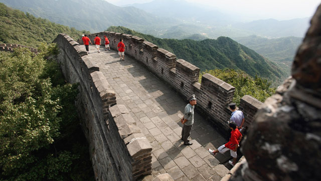 PHOTO:The Great Wall in Mutianyu north of Beijing