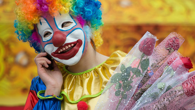 PHOTO:In a push to court the civilian population and secure their support, Mexicos Los Zetas Cartels recently organized several childrens parties with clowns and music. This clown is from an unrelated celebration in China.