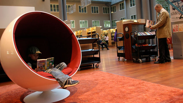 PHOTO:A library in Helsinki, Finland has one of the world's top education systems.