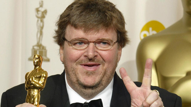 PHOTO:  Comedian and documentary-maker Michael Moore .