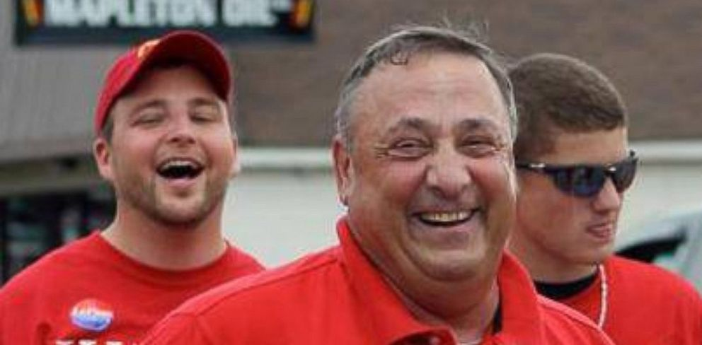 PHOTO: Maine Gov. Paul LePage (R) pictured at the Potato Blossom Festival parade in Aroostook County, July 2013.