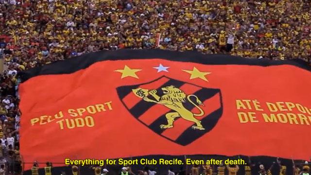 "PHOTO: ""Everything for Sport Club Recife, Even After Death,"" says this banner unfurled at a Sports Recife match. An ad agency in Brazil capitalized on passion for the team, to increase organ donations in Pernambuco state."