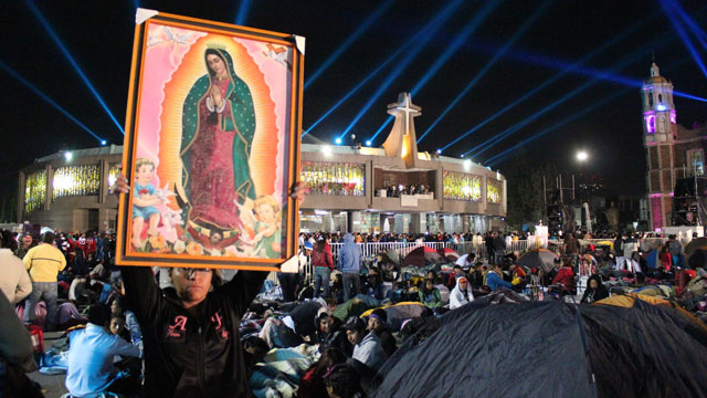 PHOTO: Annual festivities for the Virgin of Guadalupe began in Mexico City on Tuesday night, and will continue through Wednesday. Every year millions of people visit the Tepeyac religious complex in Mexico City.