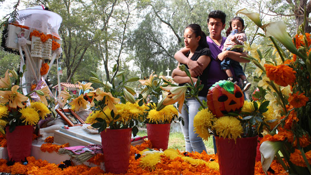 PHOTO: Juan Jose Jimenez lost his three year old daughter, Ingrid, to cancer last year. He says the day of the dead gives him a chance to remember Ingrid, and other loved ones that he misses.