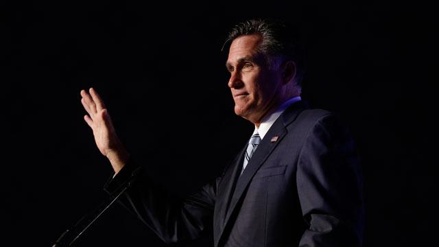 PHOTO:Mitt Romney addresses the U.S. Hispanic Chamber of Commerce in Los Angeles, Monday, Sept. 17, 2012. He endorsed immigration hardliner Steve King in early September.