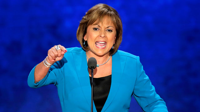 PHOTO:  New Mexico Governor Susana Martinez addresses the Republican National Convention in Tampa.