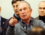 PHOTO: Mayor Michael Bloomberg speaks to the media at Seward Park High School on the lower east side, the site of one of many public shelters set up in preparation of the storm, Sunday, Oct. 28, 2012, in New York.