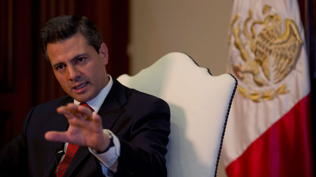 PHOTO: EnriquePeñaNieto speaks during an interview with The Associated Press at the Los Pinos presidential residence in Mexico City, Monday, Dec. 10, 2012.