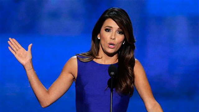 PHOTO: Obama Campaign Co-Chair Eva Longoria addresses the Democratic National Convention in Charlotte, N.C., on Thursday, Sept. 6, 2012.