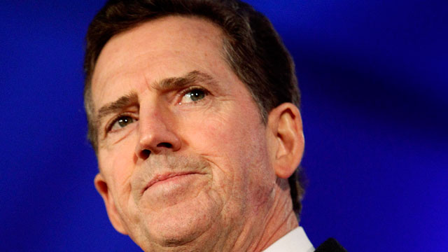 PHOTO: In this June 17, 2011 file photo, Sen. JimDeMint, R-S.C. speaks in New Orleans. DeMint announced Thursday, Dec. 6, 2012 that he is resigning to take over at Heritage Foundation.