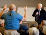 PHOTO:U.S. Sen. JohnMcCain, R-Ariz., listens to a question during a town hall, Tuesday, Feb. 19, 2013, in Sun Lakes, Ariz.