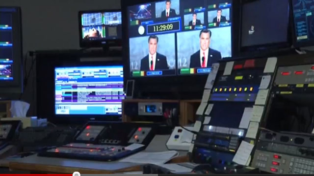 PHOTO:This undated frame grab taken from AP video shows a control room at television station WDBJ7 in Roanoke, Va.